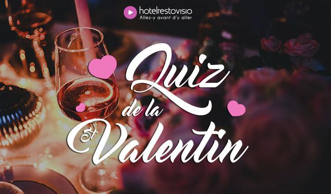 Gagnez un dîner pour la Saint-Valentin avec HotelRestoVisio !